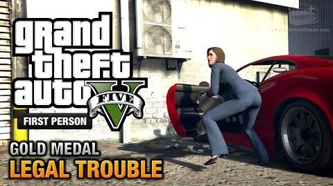 GTA 5 - Mission 66 - Legal Trouble First Person Gold Medal Guide - PS4