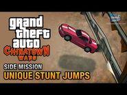 GTA Chinatown Wars - All Unique Stunt Jumps Locations