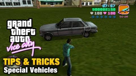 Special Vehicles in GTA Vice City