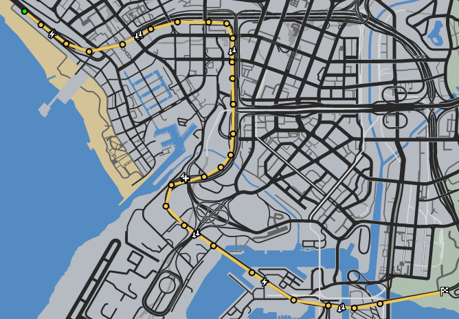 The Commute GTAO Race Map.png