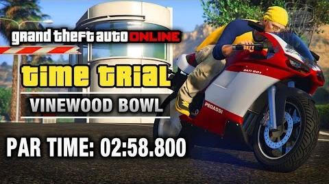 GTA Online - Time Trial 19 - Vinewood Bowl (Under Par Time)