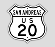 1948 Style US Route 20 Shield
