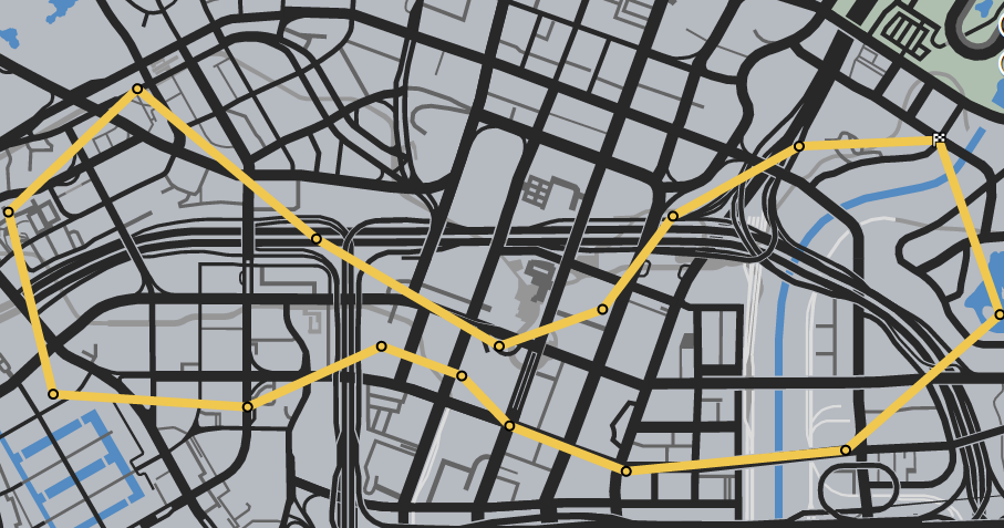 Downtown Downtown GTAO Race Map.png