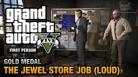 GTA 5 - Mission 13 - The Jewel Store Job (Loud Approach) First Person Gold Medal Guide - PS4
