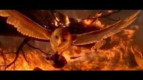 Legend of the guardians soren fire scene HD