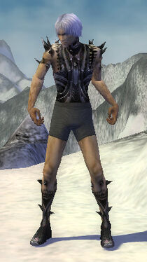 Necromancer Obsidian Armor M gray arms legs front.jpg