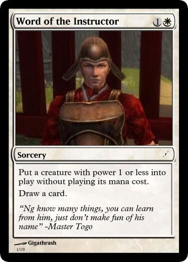 Giga's Word of the Instructor Magic Card.jpg
