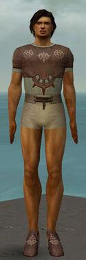Dervish Sunspear Armor M gray chest feet front.jpg