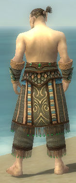 Monk Elite Luxon Armor M gray arms legs back.jpg