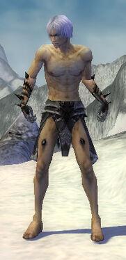 Necromancer Obsidian Armor M gray chest feet front.jpg