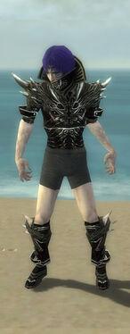 Necromancer Elite Luxon Armor M gray chest feet front.jpg