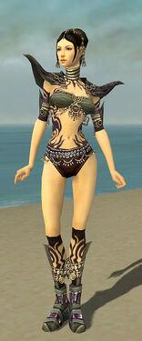 Ritualist Obsidian Armor F gray chest feet front.jpg
