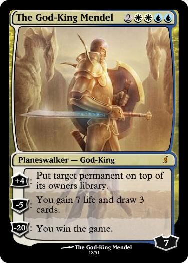 Giga's God-King Mendel Magic Card.jpg