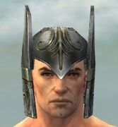 Warrior Elite Gladiator Armor M gray head front.jpg