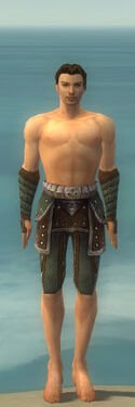 Ranger Elite Studded Leather Armor M gray arms legs front.jpg
