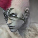 Necromancer Elite Canthan Armor M gray head left.jpg