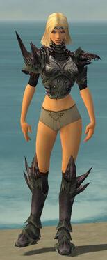 Warrior Primeval Armor F gray chest feet front.jpg