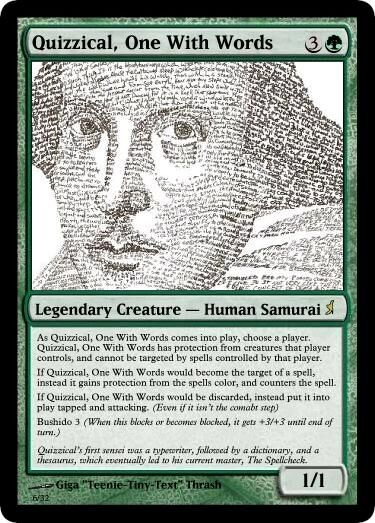Giga's Quizzical, One With Words Magic Card.jpg