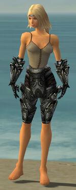 Warrior Obsidian Armor F gray arms legs front.jpg