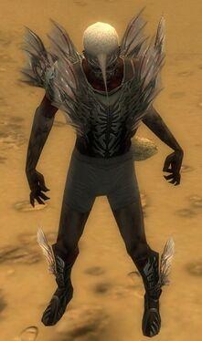Necromancer Primeval Armor M gray chest feet front.jpg