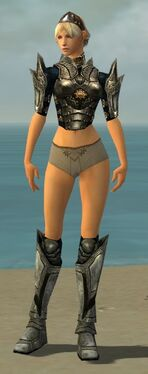 Warrior Elite Sunspear Armor F gray chest feet front.jpg