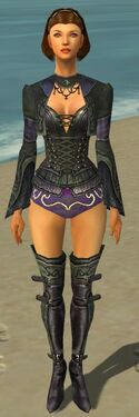 Mesmer Elite Rogue Armor F gray chest feet front.jpg