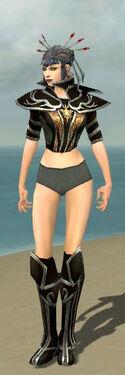 Necromancer Elite Sunspear Armor F gray chest feet front.jpg
