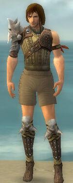 Ranger Studded Leather Armor M gray chest feet front.jpg