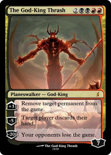 Giga's The God-King Thrash Magic Card.jpg