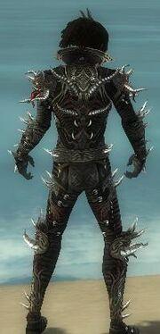 Necromancer Elite Canthan Armor M gray back.jpg