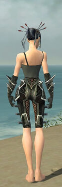 Necromancer Elite Kurzick Armor F gray arms legs back.jpg