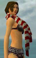 Stylish Red Striped Scarf gray side.jpg