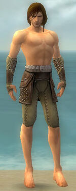 Ranger Studded Leather Armor M gray arms legs front.jpg