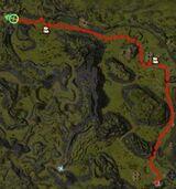 Courier Falken's map from Bergen to Beetletun.JPG