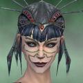 Necromancer Primeval Armor Female Headgear green front.jpg