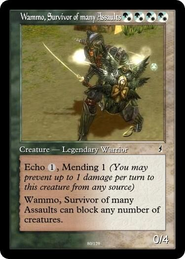 Taki's Wammo, Survivor of many Assaults Magic Card.jpg