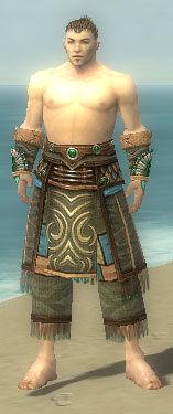 Monk Elite Luxon Armor M gray arms legs front.jpg