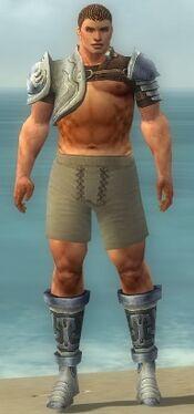 Warrior Gladiator Armor M gray chest feet front.jpg
