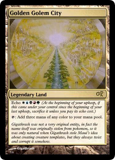 Giga's Golden Golem City Magic Card.jpg
