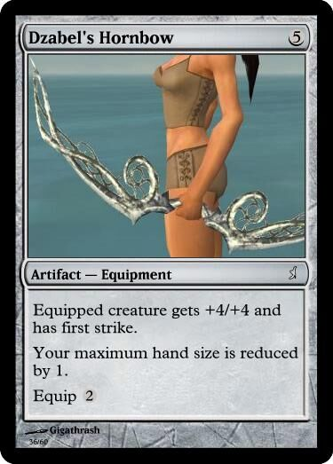 Giga's Dzabel's Hornbow Magic Card.jpg