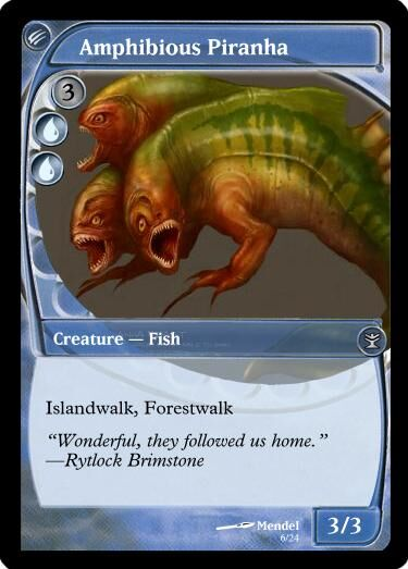 Mendel's Amphibious Piranha Magic Card.jpg