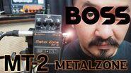 Boss mt-2 metalzone distortion pedal