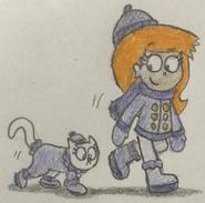 Winter Olivia and Sweet Pea