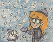 Olivia and Sweet Pea at the Snow