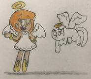 Angels Olivia and Sweet Pea
