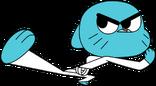 Gumball karate kick by bornreprehensible-d6vi13e