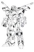 MSZ-013 Mass Production Type ZZ Gundam Lineart