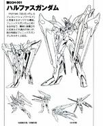 GGH-001 Halphas Gundam Lineart