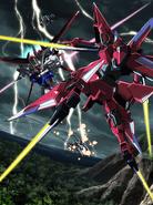 MSGS Aile Strike Gundam VS Aiges Gundam By Stoshi Shigeta
