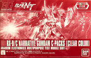 HGUC Narrative Gundam C-Packs -Clear Color-